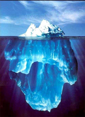 Iceberg top to bottom
